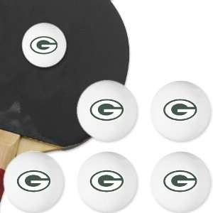 Bay Packers 6 Pack Team Logo Table Tennis Balls