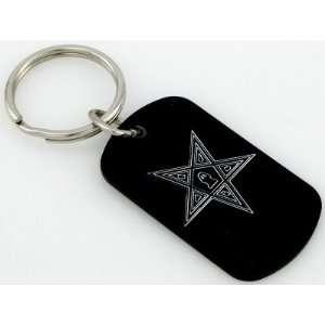 Masonic Moson East Star Ring Key Chain