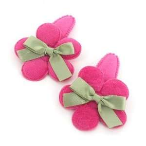 Magenta / Toddler/Girl/Teenager Flower Shaped with ribbon Bow Hair