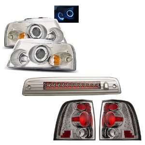 03 06 Ford Expedition Chrome LED Halo Projector Headlights