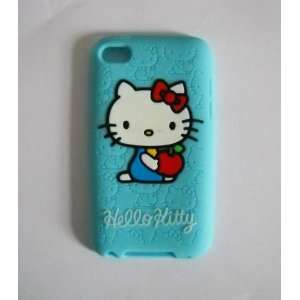 Hello Kitty Light Blue Silicone Full Cover Case for Ipod Touch4 4g 4th