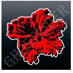 Hibiscus China Rose Hawaii Flower Car Sticker Decal
