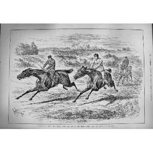 1884 Derby Horse Racing Jockeys Trial Training Sport