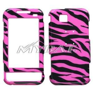 ETERNITY A867 BLACK AND HOT PINK ZEBRA PRINT DESIGN HARD CASE COVER
