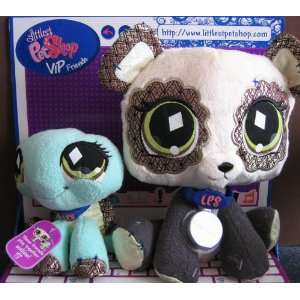 Littlest Pet Shop VIP Friends Panda & Turtle Plush Figures