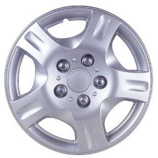 Silver and Lacquer ABS Plastic Wheel Cover Replica Hubcaps   Pack of 4