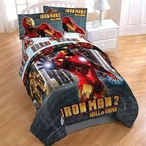 New Original Licensed Marvel Iron Man 2 4Pc Comforter Set