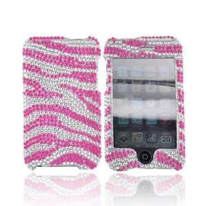 For Apple iPod Touch 2 & 3 Bling Case   HOT PINK Zebra Electronics