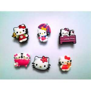 Hello Kitty Shoe Charms 6 Pc Set   Jibbitz Croc Style