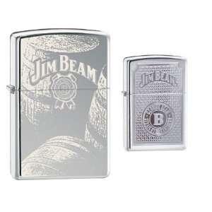 Zippo Lighter Set   Jim Beam Burbon Barrels and Genuine