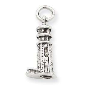 14k Gold White Gold 3 D Lighthouse Charm Jewelry