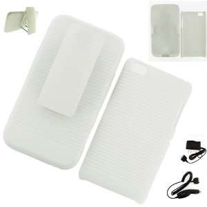 Apple iPod Touch 4G HOLSTER CASE WHITE + WALL CHARGER