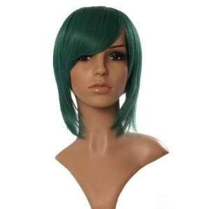 SHORT AQUA BLUE GREEN WIG COSPLAY TAPERED BOB WIGS Beauty