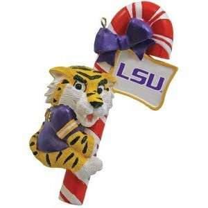 State LSU Tigers NCAA Mascot Candy Cane Ornament: Sports & Outdoors