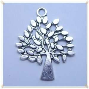 Tibetan silver Tree Shape Charm Pendant Beads Findings