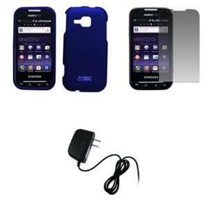 EMPIRE Blue Rubberized Hard Case Cover + Screen Protector