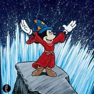 Mickey Mouse Making Waves Sorcerer Mickey Disney Fine Art