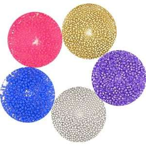 5 COLORFUL BEADS FOR NAIL ART CHIPS Rhinestone Decoration