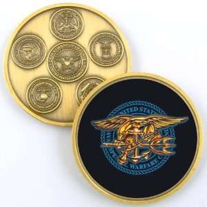 NAVY SEALS TRIDENT PHOTO CHALLENGE COIN YP633 Everything