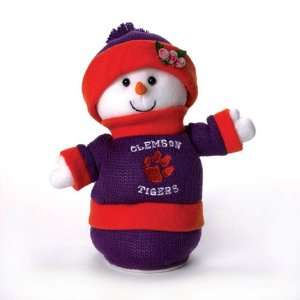 NCAA Clemson Tigers Plush Animated Musical Christmas Snowman