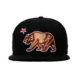 California Republic Cal Bear New Era 59Fifty Fitted Hat V2 Black Cap
