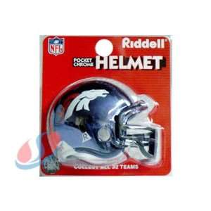 Denver Broncos Chrome Pocket Pro NFL Helmet by Riddell