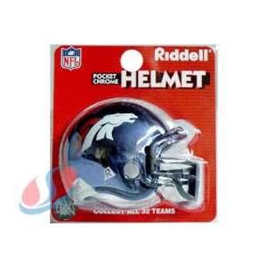 Denver Broncos Chrome Pocket Pro NFL Helmet by Riddell