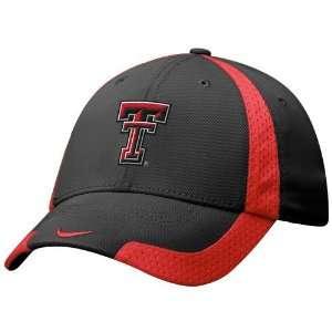 Nike Texas Tech Red Raiders Black Basketball Swoosh Flex Fit Hat