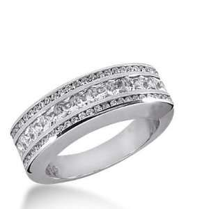 14k Gold Diamond Anniversary Wedding Ring 11 Princess Cut