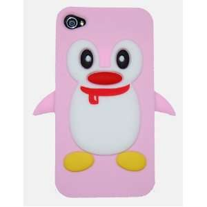 Light Pink Penguin Flexible Silicone Case (With Red Nose