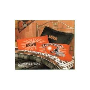 NFL Football Cleveland Browns   3pc Bed Sheet Set   Twin