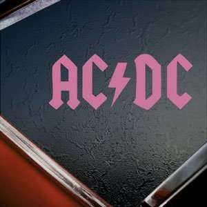 AC DC Pink Decal Car Truck Bumper Window Vinyl Pink