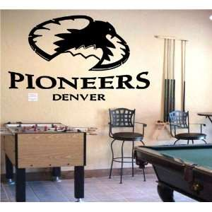 Wall Mural Vinyl Sticker Sports Logos Denver Pioneers (S181) Home