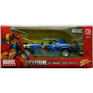 24 Marvel Wolverine 1970 Plymouth Hemi Barracuda Toys & Games
