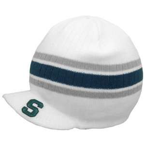 State Spartans Team Color Primo Knit Beanie   White