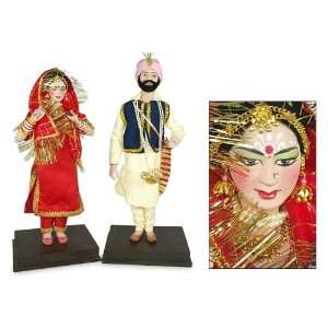 Display dolls, Punjabi Wedding (pair): Home & Kitchen