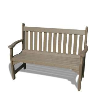 VIFAH V1227 WW Outdoor Recycled Plastic Bench, Weathered