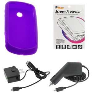 Silicone Skin Soft Cover Case + LCD Screen Protector for AT&T Samsung