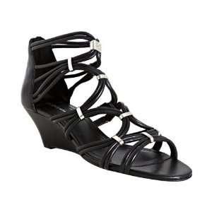 BCBGeneration black nappa leather Viera sandals