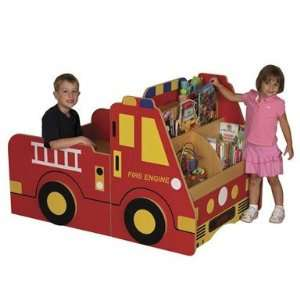 ECR4Kids Fire Engine Book Storage Center Everything Else