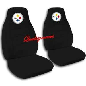 Black Pittsburgh seat covers for a 2007 to 2012 Chevrolet Silverado
