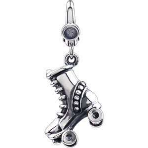 Elegant and Stylish 17.00X11.00 MM Roller Skate Charm in