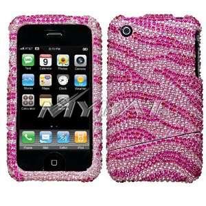 Pink Zebra slide together Crystal Art bling cover