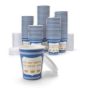 NY Coffee Cup (100 paper cups with lids)