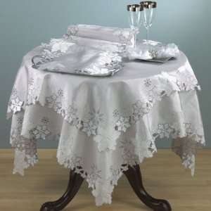 New   Snowflake Silver Table Runner by WMU Patio, Lawn & Garden