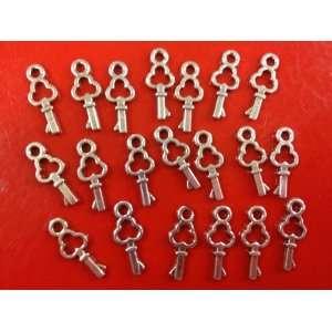 10 Piece Key Antique Silver Tibetan Style Charms Pendants