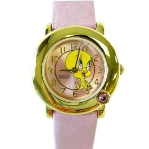 Looney Tunes Pink Tweety Bird Crystal Analog Watch Toys & Games
