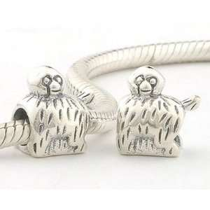 925 Sterling Silver European Style Antique Silver Chicken Charms