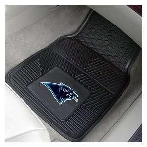 Carolina Panthers 2 Piece Heavy Duty Vinyl Floor Car Mat Set with Logo