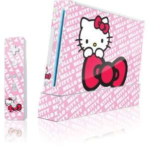 Skinit Hello Kitty Pink Bow Peek Vinyl Skin for Wii (Includes 1